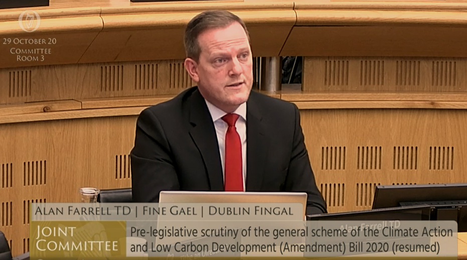 Alan selected as Fine Gael Spokesperson on Climate Action, the most important issue facing our world.