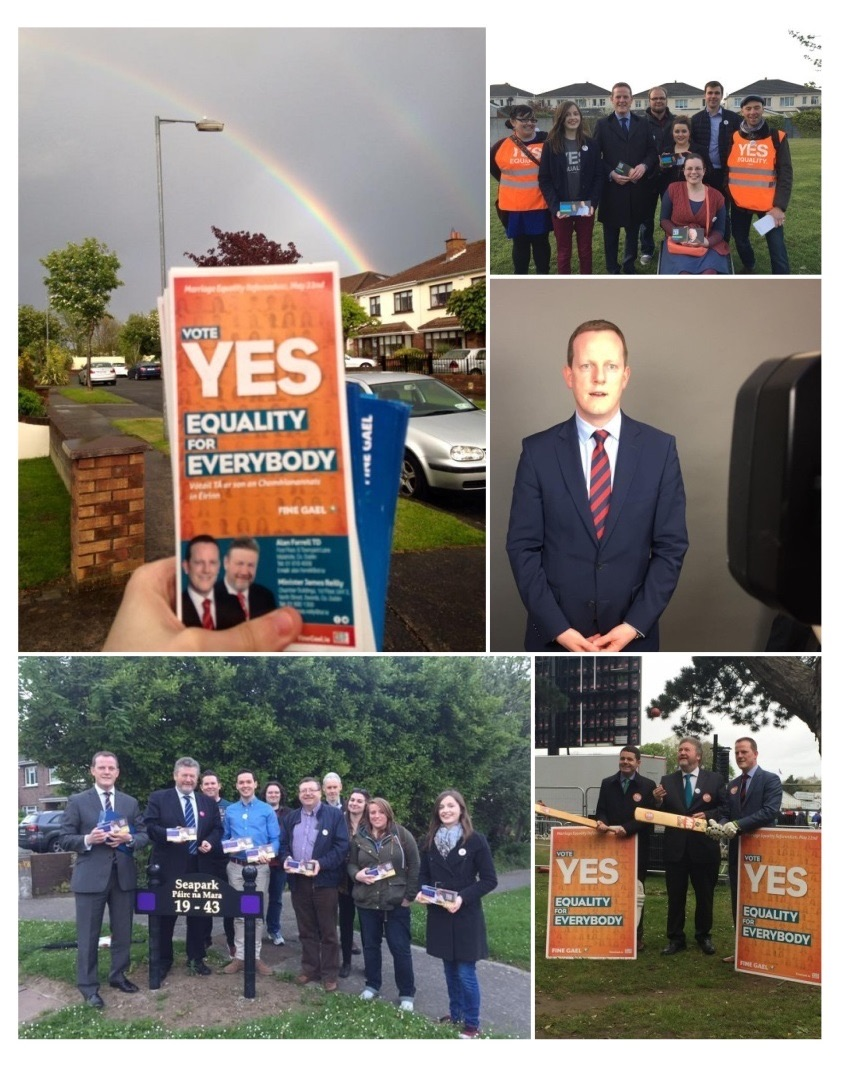 Campaigned for a Yes vote in the Marriage Equality Referendum